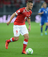 Fussball International  WM Qualifikation 2014   in Bern Schweiz - Island          06.09.2013 Haris SEFEROVIC (Schweiz) am Ball