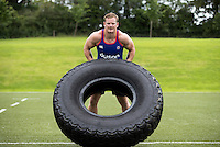 Chris Cook of Bath Rugby in action during a Bath Rugby photoshoot on June 21, 2016 at Farleigh House in Bath, England. Photo by: Rogan Thomson for Onside Images