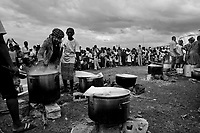 Jacmel, Haiti, Jan 19 2010.Camp Pechinat is one of two large IDP camps in Jacmel where the UN World Food Programme serves more than 8400 hot meals per day..