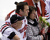 Dennis McCauley (Northeastern - 12) - The Northeastern University Huskies defeated the Boston College Eagles 2-1 OT in the NU senior night game on Friday, March 6, 2009 at Matthews Arena in Boston, Massachusetts.