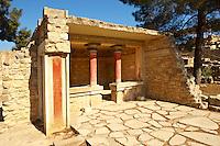 Arthur Evans reconstruction of  Knossos Minoan Palace archaeological site, Crete