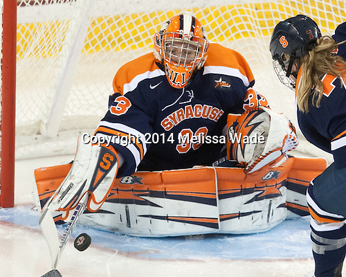 Jenn Gilligan (SU - 33) - The Boston College Eagles defeated the visiting Syracuse University Orange 10-2 on Saturday, October 4, 2014, at Kelley Rink in Conte Forum in Chestnut Hill, Massachusetts.