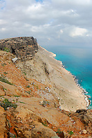 The South coastal cliffs of Socotra, Yemen.