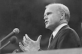United States Senator John H. Glenn, Jr. (Democrat of Ohio) delivers the first Keynote Address at the opening session of the 1976 Democratic National Convention at Madison Square Garden in New York, New York on July 12, 1976.  At the time, Glenn was a serious contender to be Jimmy Carter's running mate..Credit: Frank Jurkoski / CNP