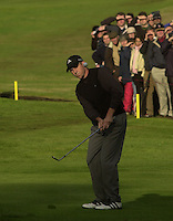 Photo Peter Spurrier.18/10/2002 Fri.CISCO World Matchplay Championships - Wentworth.Sergio Garcia chips on the 12th..[Mandatory Credit Peter Spurrier/ Intersport Images]