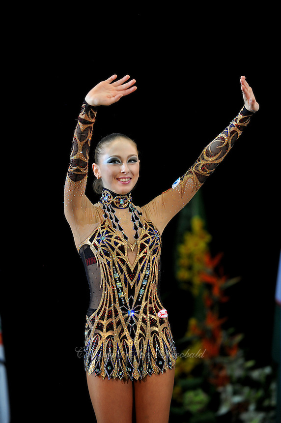 Daria Kondakova of Russia wins senior individual All Around at 2011 World Cup at Portimao, Portugal on April 30, 2011.