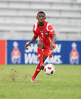 Dario Wright.  Canada played Panama during the CONCACAF Men's Under 17 Championship at Catherine Hall Stadium in Montego Bay, Jamaica.