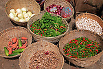 Asia, Bhutan, Wangdue Phodrang. Vegetables at Wangdue Phodrang market.