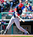5 March 2010: Washington Nationals' outfielder Roger Bernadina in action during a Spring Training game against the Atlanta Braves at Champion Stadium in the ESPN Wide World of Sports Complex in Orlando, Florida. The Braves defeated the Nationals 11-8 in Grapefruit League action. Mandatory Credit: Ed Wolfstein Photo