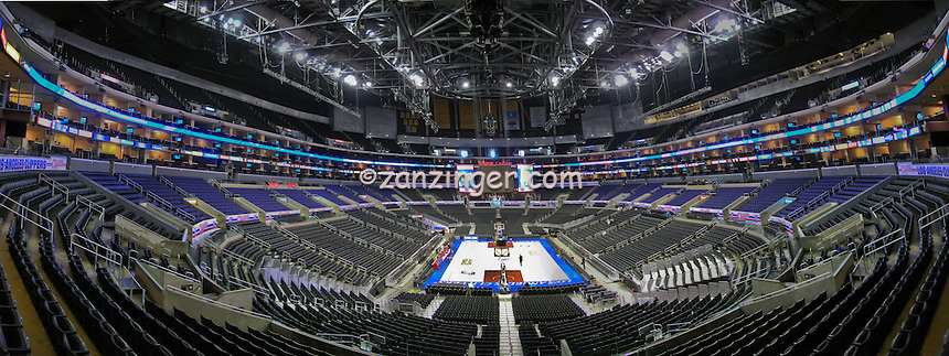 Staples Sports Arena, Basketball, Game, Downtown, Los Angeles, CA, Interior, Architecture, Panorama, Calif. California, CGI Backgrounds, High dynamic range imaging (HDRI or HDR) ,Beautiful Background