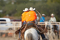 BOERNE, TX - AUGUST 1, 2009: The Ring of Fire Ranch Rodeo presented by the San Antonio Corral Club & Triple R Rodeo and held at the Kendall County Fairground. (Photo by Jeff Huehn)