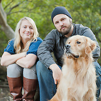 Morgan, Tom and Barkley | Couples Portraits