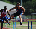 Oxford High's Stuart Howorth runs hurdlesat the Region 1-5A Track Meet at Oxford High School in Oxford, Miss. on Monday, May 3, 2010.