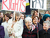 Women from the original Dagenham equal pay strike and Stars from cast of hit musical 'Made in Dagenham' at House of Commons for Pay Transparency vote<br /> <br /> 16th December 2014 <br /> outside Parliament <br /> <br /> Parliament will next week vote on the implementation of section 78 of the Equality Act (2010) to require large companies to publish their pay gap. <br /> <br /> <br /> <br /> Gloria De Piero MP<br /> <br /> Gemma Arterton <br /> actress currently appearing in made in Dagenham <br /> <br /> Vera Sime.<br /> <br /> <br /> Sheila Douglass<br /> <br /> <br /> <br /> <br /> Photograph by Elliott Franks <br /> Image licensed to Elliott Franks Photography Services