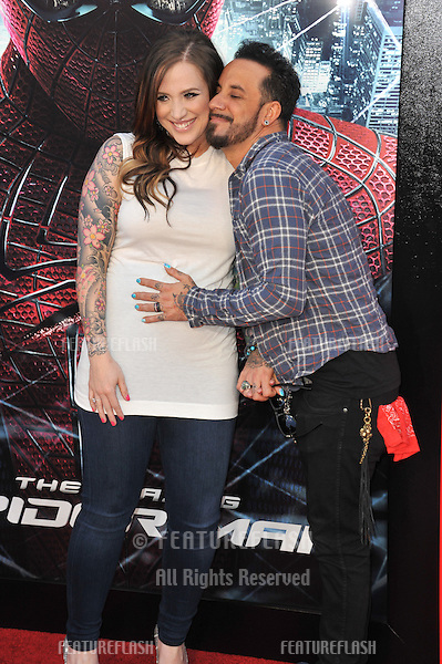 """A.J. McLean & Rochelle DeAnna Karidis at the world premiere of """"The Amazing Spider-Man"""" at Regency Village Theatre, Westwood..June 29, 2012  Los Angeles, CA.Picture: Paul Smith / Featureflash"""