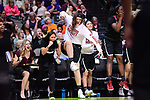 DALLAS, TX - MARCH 31: The South Carolina bench celebrates during the 2017 Women's Final Four at American Airlines Center on March 31, 2017 in Dallas, Texas. (Photo by Justin Tafoya/NCAA Photos via Getty Images)