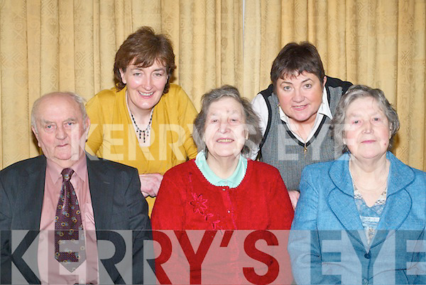 CELEBRATIONS: Friends, family and neighbours who celebrated in The Dromhall Hotel, Killarney, on Tuesday on the occasion of the 80th birthdays of Noreen Healy, Beaufort, Eileen OKeeffe, Kilcummin, Bridie McSweeney, Mastergeeha, Mary Moynihan, Kilcummin, Con Healy, Currow, Kathleen Lynch, Michael Cahill and Kate Brosnan, Kilcummin...