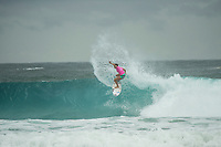 COOLANGATTA, Queensland/AUS (Sunday, March 19, 2017) Johanne Defay (FRA) - The Quiksilver and Roxy Pro Gold Coast was called ON today in three - to - four foot (1 m) surf at Snapper Rocks. The event got underway at 7:05 a.m. with the Men's Quarterfinals followed by the Women's Quarterfinals and ran through to the finals with Owen Wright (AUS) posting a victory with his first event back from injury and Stephanie Gilmore (AUS) adding another Roxy Pro title to her name. Wright defeated defending event champion Matt Wilkinson(AUS) in an all goofy-foot final while Lakey Peterson (USA) was runner up to Gilmore.   Photo: joliphotos.com