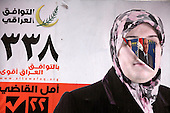BAGHDAD, IRAQ: Elections posters adorn Baghdad in the lead up to the March 7th Parliamentary elections in Iraq...Photo by Ceerwan Aziz/Metrography