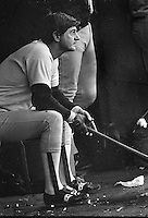 Boston Red Sox slugger Carl Ystrimski waiting to bat. <br />