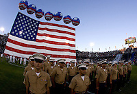 Halftime military performance during the game at Stanford Stadium in Palo Alto, California on June 30th, 2012.  San Jose Earthquakes defeated LA Galaxy, 4-3.