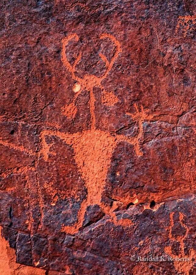 """Howdy Panel"" petroglyph, Moab, Utah"