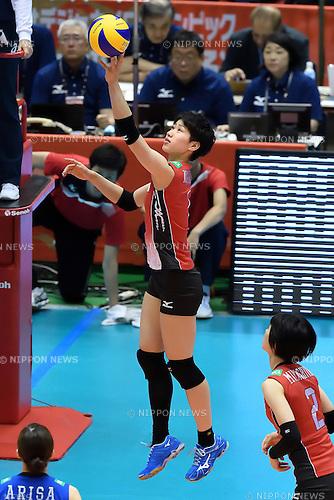 Miyu Nagaoka (JPN), MAY 14, 2016 - Volleyball : Women's Volleyball World Final Qualification for the Rio de Janeiro Olympics 2016 match between Japan 3-0 Peru at Tokyo Metropolitan Gymnasium in Tokyo, Japan. (Photo by Ryu Makino/AFLO)