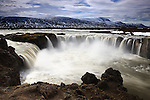 Go&eth;afoss, which means &quot;Waterfall of the Gods,&quot; is regarded as one of the most spectacular waterfalls in Iceland. Located near M&yacute;vatn, it plunges 12 meters and is more than 30 meters wide.
