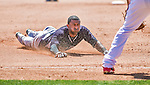 11 March 2014: New York Yankees infielder Eduardo Nunez hustles to third with a triple in the 5th inning of a Spring Training game against the Washington Nationals at Space Coast Stadium in Viera, Florida. The Nationals defeated the Yankees 3-2 in Grapefruit League play. Mandatory Credit: Ed Wolfstein Photo *** RAW (NEF) Image File Available ***