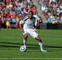 LA Galaxy midfielder Tristan Bowen (17) looks to pass the ball.  The LA Galaxy tied the Chicago Fire 1-1 at Toyota Park in Bridgeview, IL on September 4, 2010