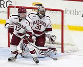 Sean Malone (Harvard - 17), Merrick Madsen (Harvard - 31) - The Harvard University Crimson defeated the visiting Cornell University Big Red on Saturday, November 5, 2016, at the Bright-Landry Hockey Center in Boston, Massachusetts.