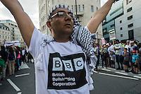 Gaza BBC protest 15-7-14