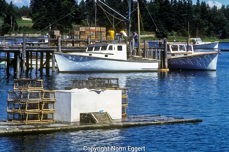 Fishing Boats at the Pier, Owl's Head, Maine