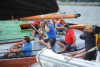 ZEILEN: LEMMER: Lemster baai, 30-07-2014, SKS skûtsjesilen, schipper Douwe Azn. Visser winnaar met het skûtsje Doarp Grou, ©Martin de Jong