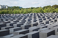 Berlin's Memorial to the Murdered Jews of Europe, a holocaust memorial opened in 2005 that consists of 2,711 grey concrete columns, designed by Peter Eisenmann and sculptor Richard Serra..