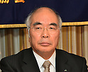 January 25, 2012, Tokyo, Japan - Akira Banzai, president of the Central Union of Agricultural Cooperative, voices his opinion against the Trans-Pacific Partnership free trade agreement during a news conference at Tokyo's Foreign Correspondents Club of Japan on Wednesday, January 25, 2012. While Japan's government believes it must seize this opportunity to modernize the Japanese economy and farm sector to keep pace with the rest of the world, and consumers may benefit from reduced food costs and more effective medications, opinion in Japan remains divided on trade liberalization. Banzai said Japanese farmers are concerned that big businesses from the United States and other countries will threaten their family farming operations and put Japanese consumers at risk by exporting genetically modified food. (Photo by Natsuki Sakai/AFLO) AYF -mis-