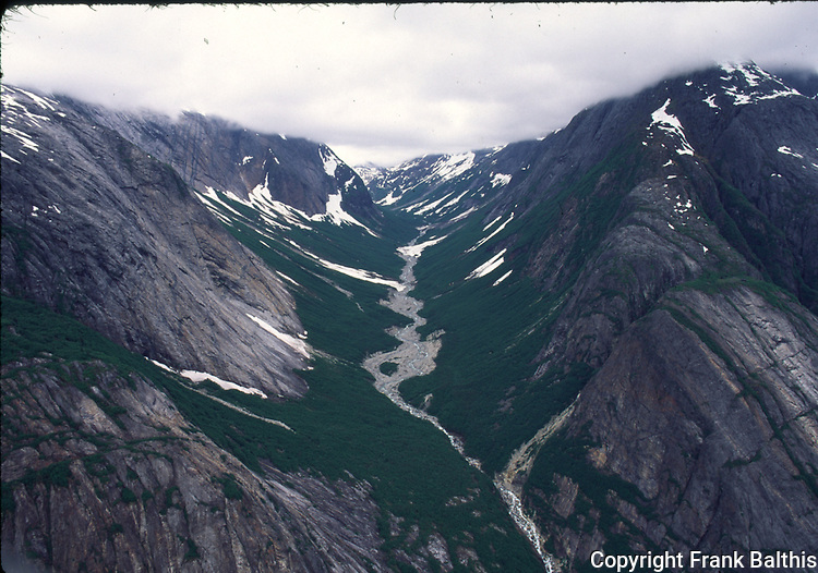 hanging valley in Endicott Arm