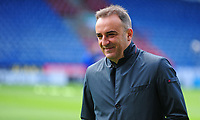 Sheffield Wednesday manager Carlos Carvalhal  inspects the pitch<br /> <br /> Photographer Andrew Vaughan/CameraSport<br /> <br /> The EFL Sky Bet Championship Play-Off Semi Final First Leg - Huddersfield Town v Sheffield Wednesday - Saturday 13th May 2017 - The John Smith's Stadium - Huddersfield<br /> <br /> World Copyright &copy; 2017 CameraSport. All rights reserved. 43 Linden Ave. Countesthorpe. Leicester. England. LE8 5PG - Tel: +44 (0) 116 277 4147 - admin@camerasport.com - www.camerasport.com