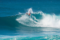 SUNSET BEACH, Oahu/Hawaii (Friday, December 5, 2014): Dusty Payne (HAW) The Vans World Cup of Surfing was  called ON this morning with competition begining with Round 4. <br /> A new NW 6 - 8 foot swell was on hand for the final which built through the day to 10 foot plus by the afternoon.<br /> Four island boys reached the final, three from the islands of Hawaii and one from the islands of tahiti. By the final hooter it was the Tahitian Michel Bourez (PYF) who emerged vitreous with Dusty Payne (HAW) 2nd, Sebastien Zietz (HAW) 3rd and Ian Walsh (HAW) 4th. Photo: joliphotos.com
