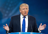 Donald Trump, Chairman & President, The Trump Organization, makes remarks at CPAC 2013 At the Gaylord National Resort & Convention Center in National Harbor, Maryland on Friday, March 15, 2013..Credit: Ron Sachs / CNP