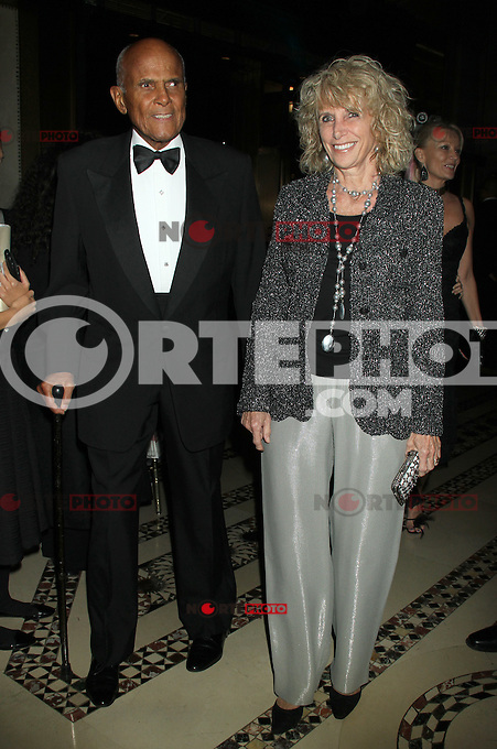 NEW YORK, NY - NOVEMBER 27: Harry Belafonte and Pamela Frank at the 2012 Unicef SnowFlake Ball at Cipriani 42nd Street on November 27, 2012 in New York City. Credit: RW/MediaPunch Inc. /NortePhoto
