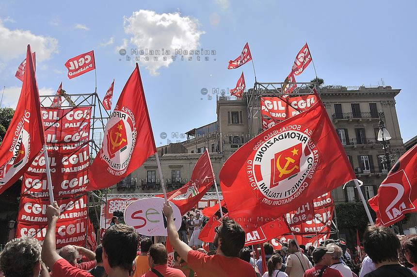 Palermo: general stike by trade unionist CGIL.Palermo: sciopero generale indetto dalla CGIL