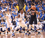 UK forward Nerlens Noel guards the ball during the first half of the men's basketball game vs. Samford at Rupp Arena in Lexington, Ky., on Tuesday, December 4, 2012. Photo by Emily Wuetcher | Staff..