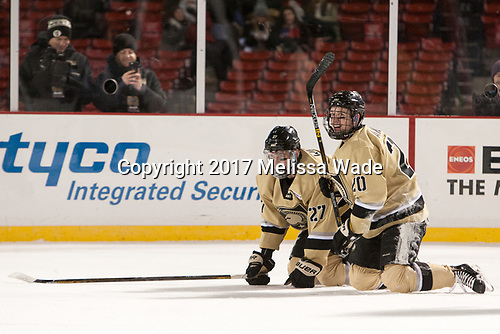 Michael Wilson (Army - 27), Conor Andrle (Army - 20) - The Bentley University Falcons defeated the Army West Point Black Knights 3-1 (EN) on Thursday, January 5, 2017, at Fenway Park in Boston, Massachusetts.The Bentley University Falcons defeated the Army West Point Black Knights 3-1 (EN) on Thursday, January 5, 2017, at Fenway Park in Boston, Massachusetts.