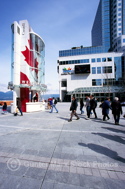 """The New Tourist Welcome Centre and Information Booth and """"Canada Place"""" Trade, Convention and Exhibition Centre, Vancouver, British Columbia, Canada"""