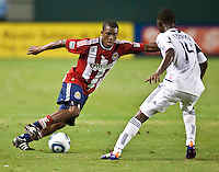 CARSON, CA – July 2, 2011: Chivas USA defender Michael Lahoud (11) during the match between Chivas USA and Chicago Fire at the Home Depot Center in Carson, California. Final score Chivas USA 1, Chicago Fire 1.