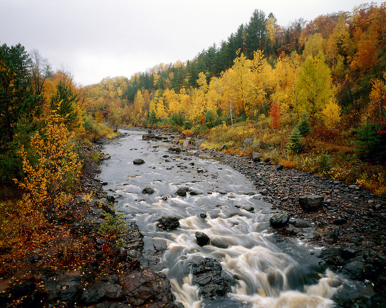 Bad River, Copper Falls State Park, Wisconsin, September, 1986