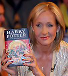 Author JK Rowling presents, to a selected audience of fans waiting to have their book signed, the seventh and final Harry Potter book at the National History Museum in London, England at 00:01 on Saturday 21st Jul 2007.. JK Rowling jumps on the Twitter bandwagon<br />