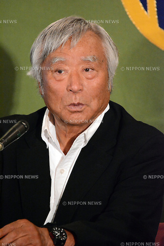 June 6, 2013, Tokyo, Japan - Yuichiro Miura, a former daredevil skier, tells his latest adventure during a news conference at the Japan National Press Club in Tokyo on Thursday, June 6, 2013. Miura broke the world record when he scaled Mt. Everest to become the oldest person to conquer the 8,850-meter summit at the age of 80. (Photo by Kaku Kurita/AFLO)