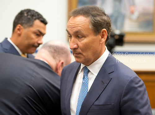 Oscar Munoz, Chief Executive Officer, United Airlines, arrives to give testimony before the United States House Committee on Transportation and Infrastructure concerning airline customer service issues in Washington, DC on Tuesday, May 2, 2017.<br /> Credit: Ron Sachs / CNP